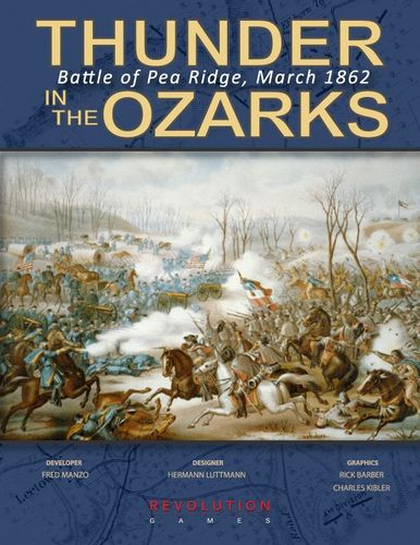 Board Game: Thunder in the Ozarks: Battle for Pea Ridge, March 1862