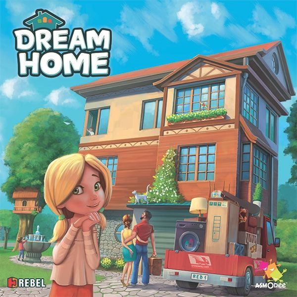 Dream Home, REBEL.pl/Asmodee, 2016 — front cover (image provided by the publisher)