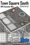 RPG Item: Town Square South (Interiors) RPG Encounter Map