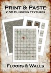 RPG Item: Print & Paste 2.5D Dungeon Textures: Floors & Walls