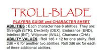 RPG Item: Troll-Blade (1st Edition)