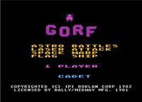 Video Game: Gorf