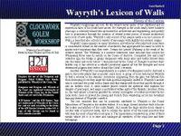 RPG Item: Lost Books 08: Wayryth's Lexicon of Walls