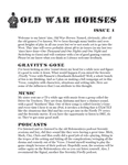 Issue: Old War Horses (Issue 1 - Apr 2009)