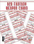 RPG Item: D20 Fantasy Weapon Cards