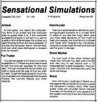 Video Game Compilation: Sensational Simulations, CS-1201
