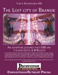 RPG Item: 1 on 1 Adventures #16: The Lost City of Bransik