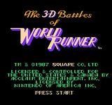 Video Game: 3-D WorldRunner