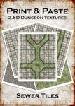 RPG Item: Print & Paste 2.5D Dungeon Textures: Sewer Tiles