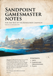RPG Item: Sandpoint Gamesmaster Notes