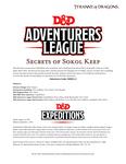 RPG Item: DDEX1-02: Secrets of Sokol Keep