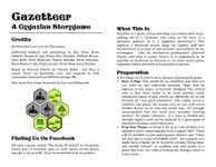 RPG Item: Gazetteer: A Gygaxian Storygame