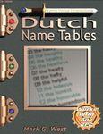 RPG Item: Dutch Name Tables