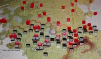 June '41, after first Axis turn, with hex control drawn in.