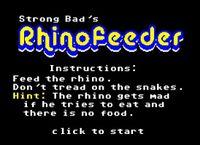 Video Game: RhinoFeeder