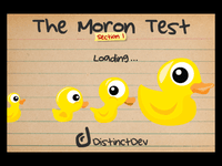 Video Game: The Moron Test: Section 1