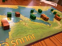 """Early game. Note that one of Caesar's troops got """"Jupitered"""" in Narbo."""