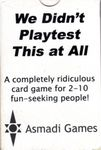 Board Game: We Didn't Playtest This At All