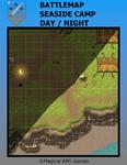 RPG Item: Battlemap Seaside Camp Day/Night