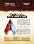 RPG Item: The Aden Gazette Issue No. 16: Calendar of the Known Lands (Pathfinder)