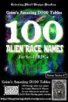 RPG Item: 100 Alien Race Names for Sci-Fi RPGs