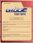 RPG Item: G.I. Joe: The RPG