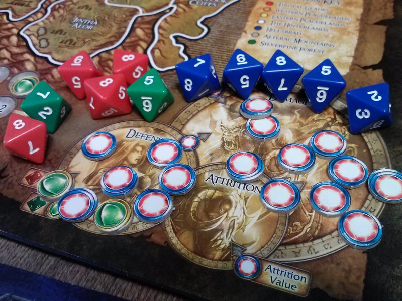 rusult of the dice