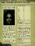 RPG Item: Subject Data A03: Dream Entity Titter