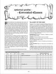 RPG Item: Optional Goodie: Converted Classes