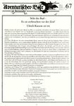 Issue: Aventurischer Bote (Issue 67 - Jan/Feb 1997)