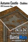 RPG Item: Autumn Castle - Stables RPG Encounter Map