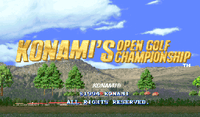 Video Game: Konami Open Golf Championship