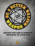 RPG Item: Be A Better Weapon Master