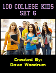 RPG Item: 100 College Kids Set 6
