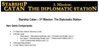 Board Game: Starship Catan: 3. Mission – The Diplomatic Station