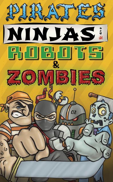 pirates ninjas robots amp zombies board game
