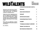 Issue: Wildtalents (Issue 5 - 2000)