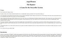 RPG Item: Angel/Demon: The Rapture