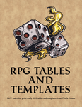 RPG Item: Free RPG Tables and Templates
