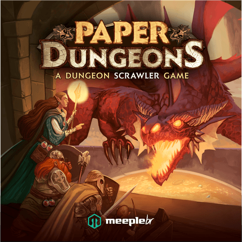 Board Game: Paper Dungeons: A Dungeon Scrawler Game