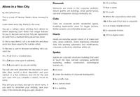 RPG Item: Alone In a Neo-City