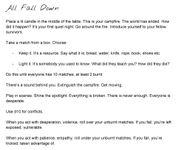 RPG Item: All Fall Down (200 Word)