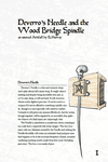 RPG Item: Deverro's Needle and the Wood Bridge Spindle