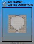 RPG Item: Battlemap Castle Courtyard