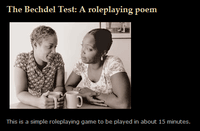 RPG Item: The Bechdel Test