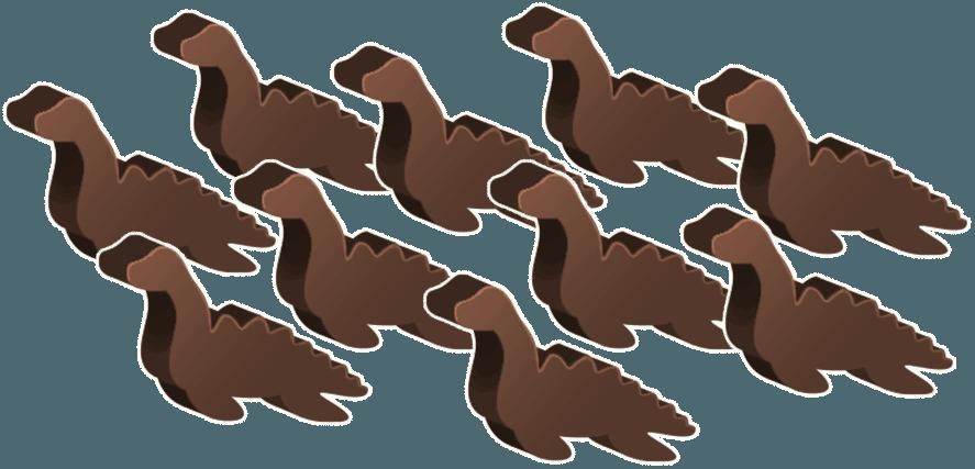 Plesiosaurus dino-meeples