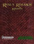RPG Item: Riyal's Research: Haunts