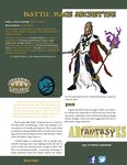 RPG Item: Fantasy Archetypes: Battle Mage Archetype