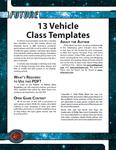 RPG Item: 13 Vehicle Class Templates