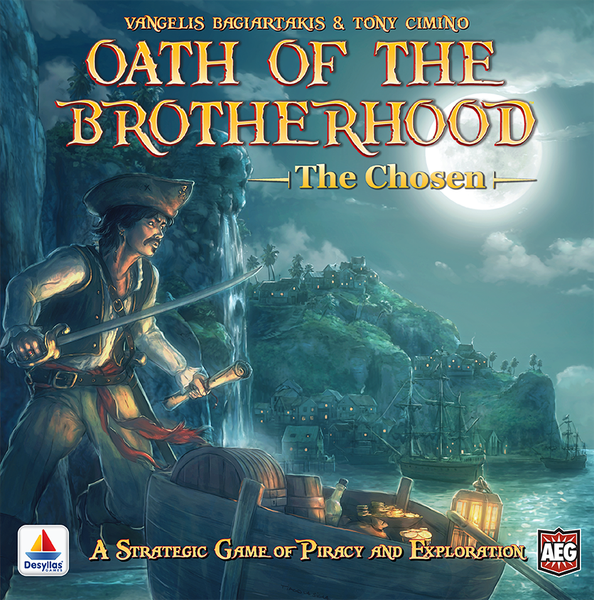Oath of the Brotherhood, Alderac Entertainment Group, 2017 — front cover (image provided by the publisher)